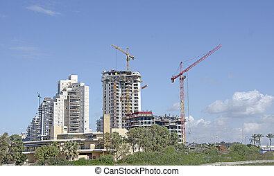 hoog, huizenbouw