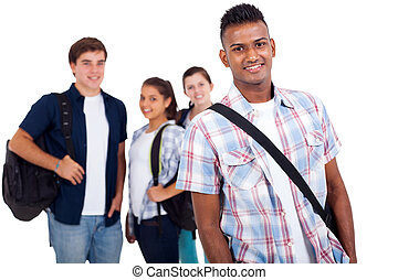 hoog, scholieren, school