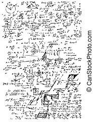 hoog, symbolen, school, wiskunde