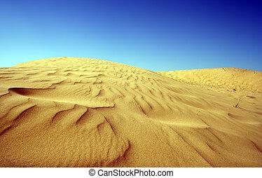 hoog, woestijn, contrast