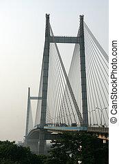 hooghly, インド, 橋, kolkata