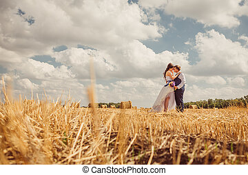 hooi, bruidegom, sluier, bruid