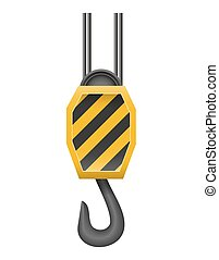 hook a crane for lifting goods vector illustration isolated...