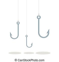 Hook for fishing. Tackle for fishing, fishing hook