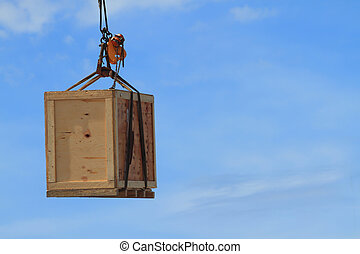 hook holding wooden container