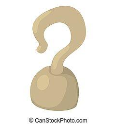 Hook icon, cartoon style