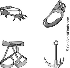 Hook, mountaineer harness, insurance and other...