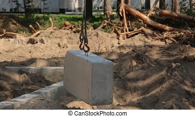 Hook of Crane Concrete - Hook of the building crane with ...