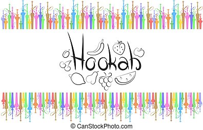 Hookah abstract vector - Hookah with fruit abstract vector