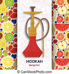 Hookah background with pipe for smoking tobacco and shisha....