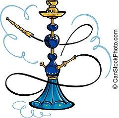 Hookah - Exotic glass and water smoking pipe - hookah