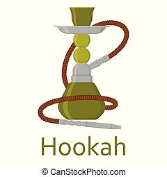 Hookah flat with pipe for smoking tobacco and shisha....