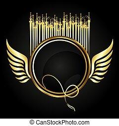 Hookah golden vector - Hookah symbol for relaxation golden ...