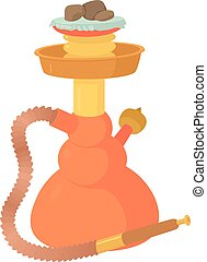 Hookah icon, cartoon style