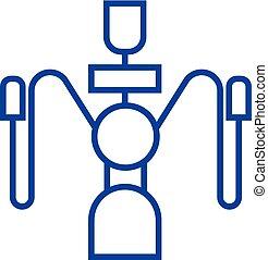 Hookah illustration line icon concept. Hookah illustration flat vector symbol, sign, outline illustration.
