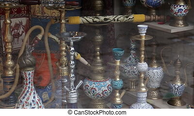 Hookah in souvenir shop in Turkey