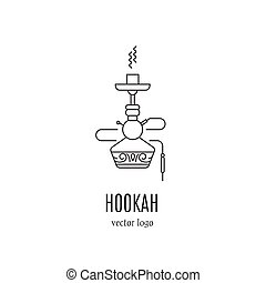 Hookah logo design - Hookah vector logo design in trendy ...