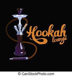 "Hookah lounge Hand lettering. - ""Hookah lounge"" Hand painted..."