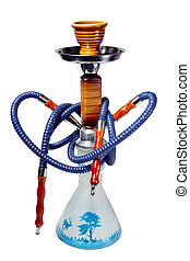 Hookah on the white background