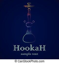 Hookah outline gradient