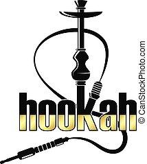 Hookah relax vector - Vector hookah relax with smoke
