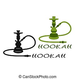 Hookah. Set - Set of Two Hookahs on a White Background. ...