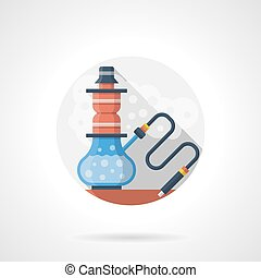 Hookah shop color detailed vector icon - Abstract...