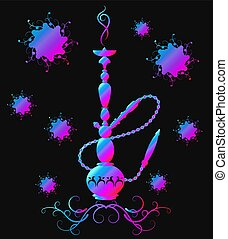 Hookah smoking and relax vector