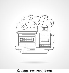 Hookah supplies store line vector illustration - Abstract...
