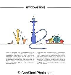 Hookah time concept.