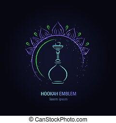Hookah vector logo