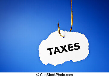 Hooked Taxes Concept