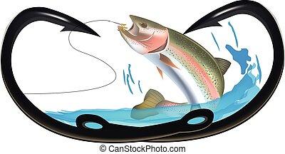 Hooks to heart fishing predatory fish
