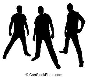 hooligans, silhouette