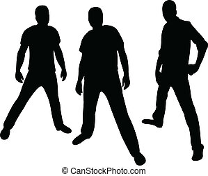 hooligans silhouette vector