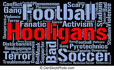 Hooligans word cloud concept