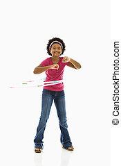 hoop., 女の子, フラダンス