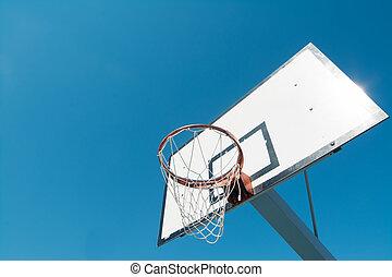 hoop and blue sky