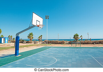 hoop by the sea