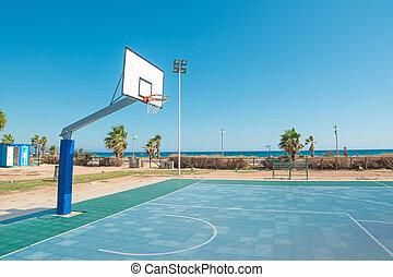 hoop by the sea