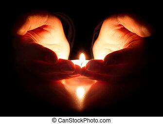 hoop, en, gebed, -, geloof