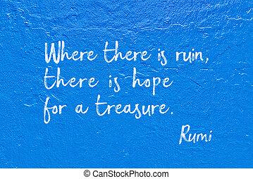hoop, in ruïnes, rumi