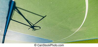 Hoop shadow upside down