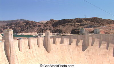 Hoover Dam and Power lines - Hoover Dam and power lines, pan