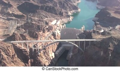 Hoover Dam Helicopter - Flight in a helicopter over the...