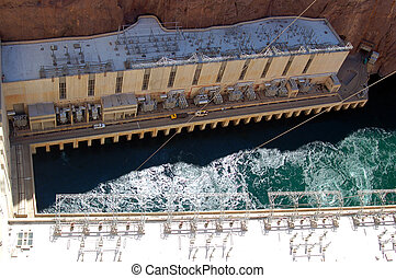 Hoover Dam on Lake Mead Las Vegas - Hoover Dam built on Lake...