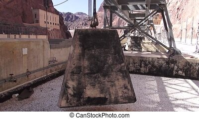 Hoover Dam - Exterior footage of the facilities at the...