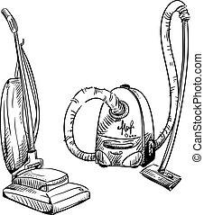 Hoovers. Vacuum cleaners.