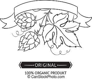 Hop emblems and labels.