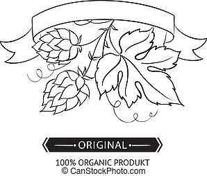 Hop emblems and labels.